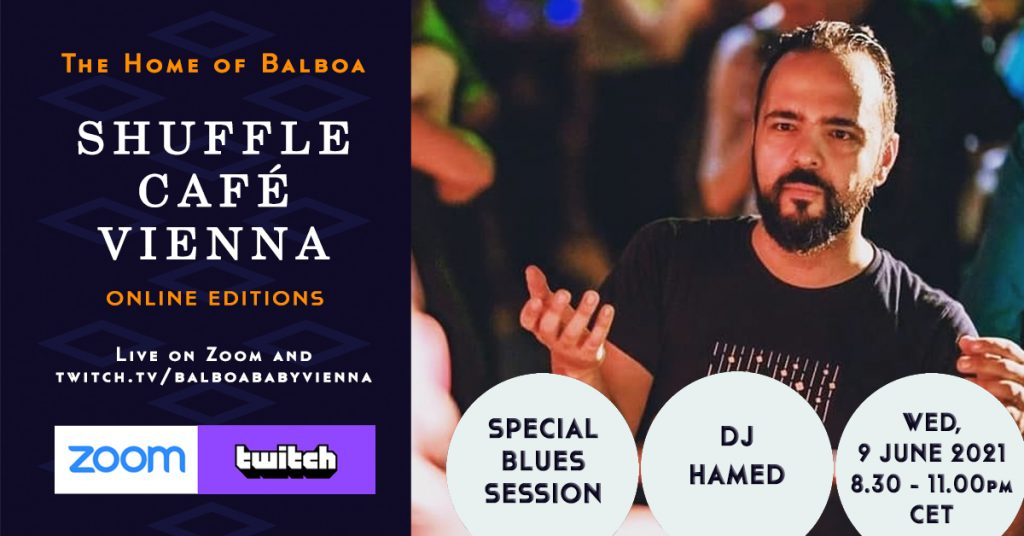 Shuffle Cafe Online Blues Session with Hamed